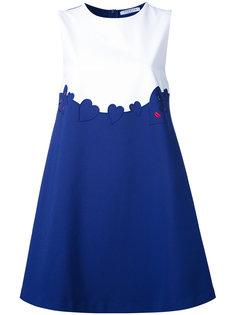 платье-шифт с вышивкой сердец Vivetta