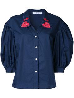 рубашка с сердцами на воротнике Vivetta
