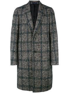 однобортное пальто в клетку Ps By Paul Smith