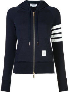 striped detail zipped hoodie Thom Browne