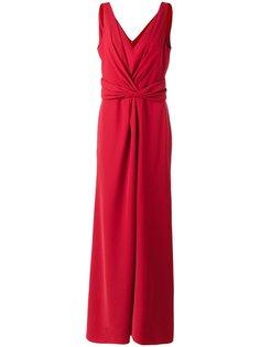 длинное платье с V-образным вырезом Armani Collezioni