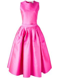 платье с отделкой в складку Maison Rabih Kayrouz