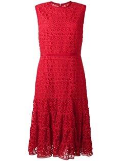 расклешенное платье с вышивкой Giambattista Valli