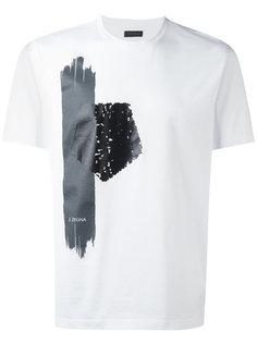 logo print T-shirt Z Zegna