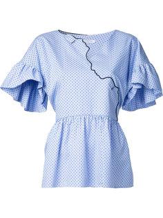 блузка с элементами в форме лиц Vivetta