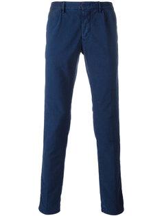 satin effect skinny trousers Incotex