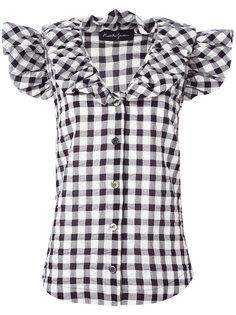 ruffled checked shirt Rossella Jardini