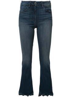 frayed cropped bootcut jeans 3X1