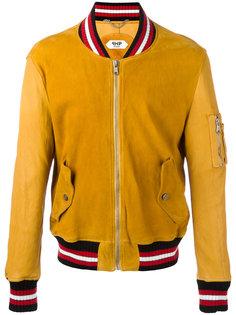 striped trim jacket  Pihakapi