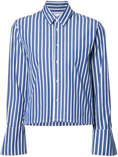cropped striped shirt Maison Mihara Yasuhiro