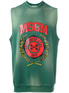 sleeveless printed sweatshirt  MSGM