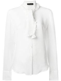 ruffle trim pussybow shirt Rossella Jardini