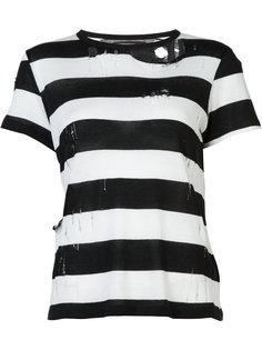 destroyed striped T-shirt Amiri
