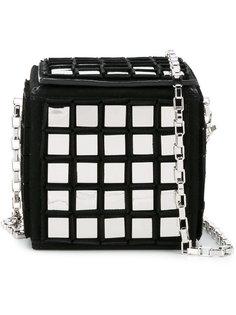 mirror embellished Rubix Cube bag Tomasini