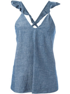 flared denim top  Dondup