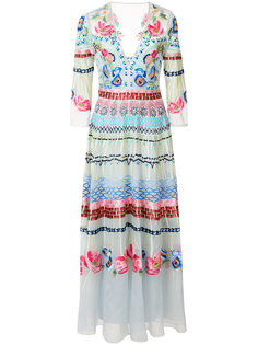 embroidered V-neck dress Temperley London