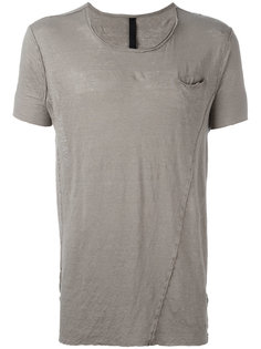 shredded trim front pocket T-shirt  Poème Bohémien