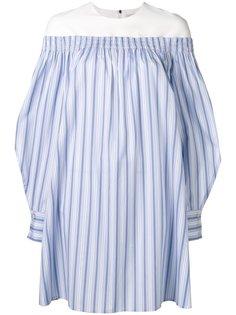 платье-рубашка с открытыми плечами MSGM
