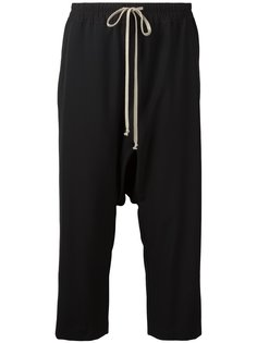 укороченные брюки с заниженной проймой Rick Owens