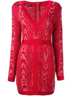 платье мини с узором Moire Balmain