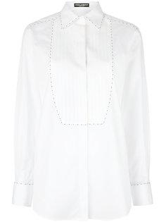 рубашка с простроченной нагрудной панелью Dolce & Gabbana