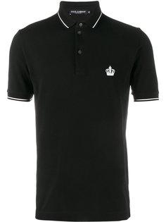 футболка-поло с вышитым логотипом Dolce & Gabbana