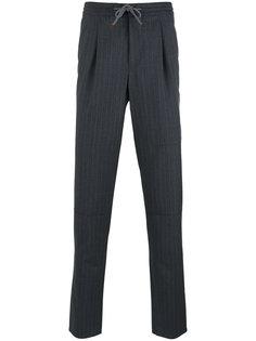 брюки прямого кроя в тонкую полоску Brunello Cucinelli