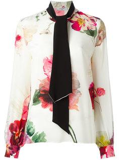 блузка с цветочным узором Lanvin