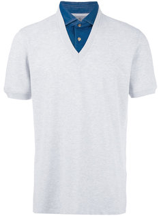 двухслойная рубашка-поло Brunello Cucinelli