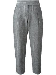 укороченные брюки в полоску Brunello Cucinelli