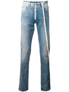 splitter print slim-fit jeans Off-White