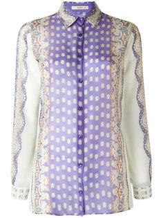 прозрачная рубашка с абстрактным узором Etro