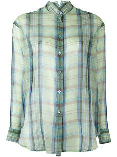 прозрачная рубашка в клетку Etro