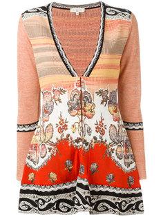 трикотажная блузка с разрезом спереди Etro