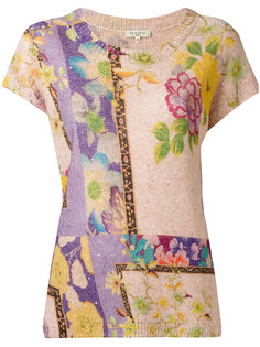 трикотажная футболка с цветочным узором Etro