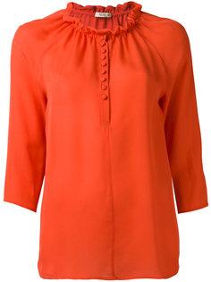 блузка с оборочной горловиной Etro