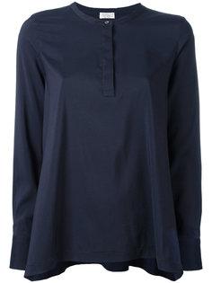 плиссированная блузка с застежкой на пуговицу Brunello Cucinelli