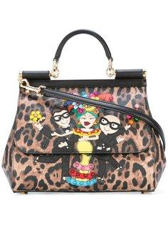 сумка-тоут с заплатками Sicily Dolce & Gabbana