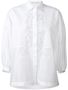 классическая рубашка с кружевной отделкой Ermanno Scervino