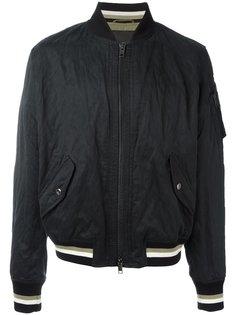 куртка-бомбер с деталью в полоску Ermanno Scervino