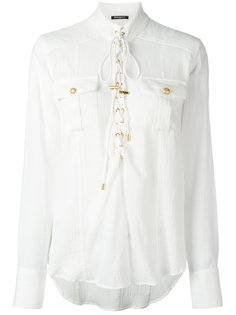 рубашка со шнуровкой Balmain