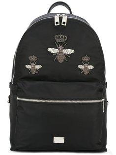 рюкзак Volcanoс заплатками в виде пчел Dolce & Gabbana