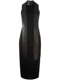 приталенное кожаное платье с воротником-чокер Tom Ford