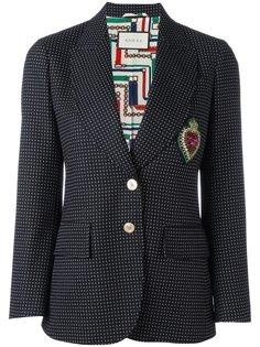пиджак с вышивкой Gucci