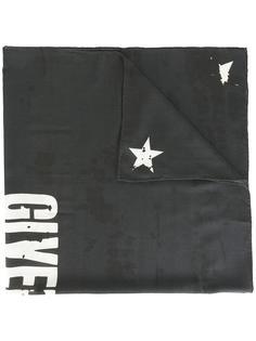 платок с принтом логотипа и рваным эффектом Givenchy