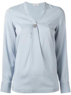 блузка с V-образным вырезом Brunello Cucinelli