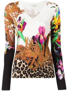 трикотажная футболка с цветочным принтом Etro