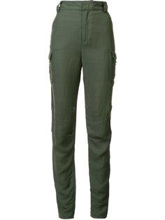 eyelets detailing slim-fit trousers Derek Lam 10 Crosby