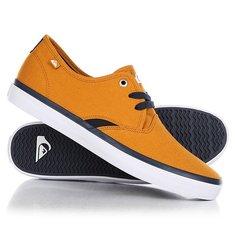 Кеды кроссовки низкие Quiksilver Shorebreak Orange/White