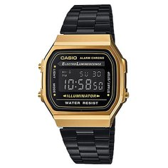 Электронные часы Casio Collection A168wegb-1b Black/Gold